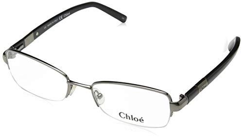 CHLOÉ CE2109 rechthoekig brilmontuur 52, zilver