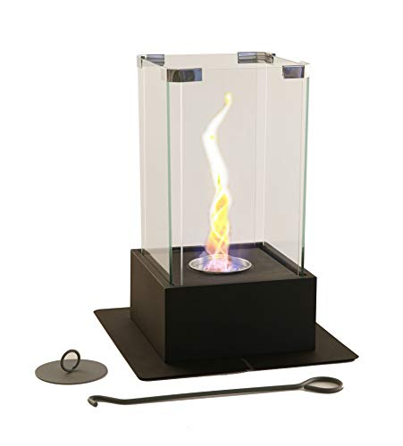 New! WJC Shop Tornado Fireplace - Unique Dancing Twisting Flame, Both Indoor and Outdoor Use, Great for Decoration, Cozy Atmosphere, German Design, Can Put Anywhere, Table Top, Easy to Set Up
