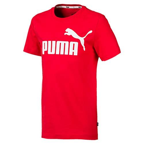 PUMA Ess Logo Tee B, Maglietta Unisex Bambini, Rosso (High Risk Red), 140