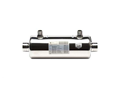 Pool Schwimmbad DAPRA Wasserwärmetauscher HWT 35 V4A elektropoliert 42 kW