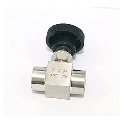 """Stainless Steel 304 Needle Valve 3/8"""" Female Thread BSP SS304 for Water Gas Oil from iProtool"""