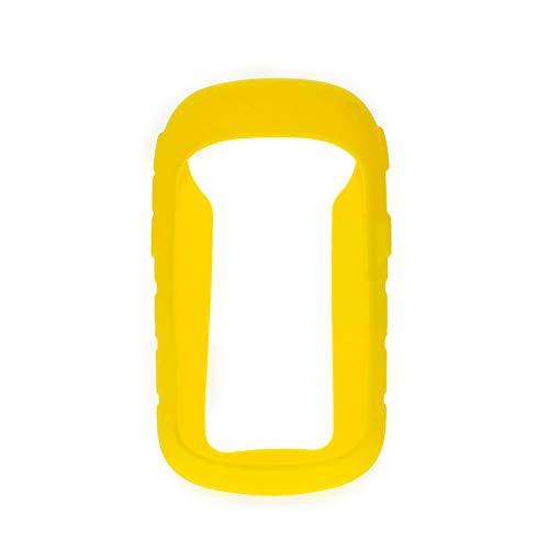 Funda para cronómetro de silicona flexible de ajuste directo, resistente al desgaste, práctica funda protectora de repuesto para Garmin ETrex 10 20 30 (amarillo)