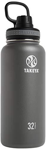 Takeya Originals Vacuum-Insulated Stainless-Steel Water Bottle, 32oz, Graphite