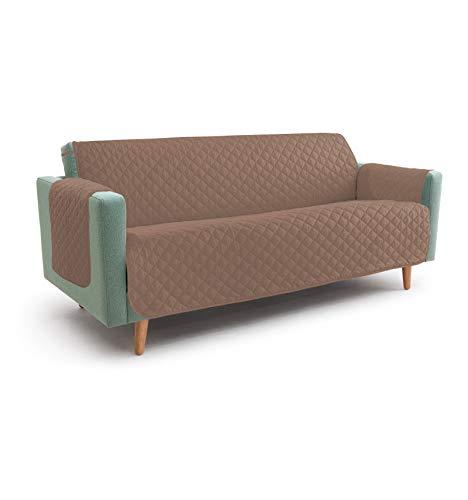 /écru Vivy Housse de protection matelass/ée pour canap/é 4 places avec assise de 230 cm de long
