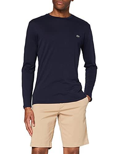 Lacoste TH6712 T-Shirt, Marine, L Uomo