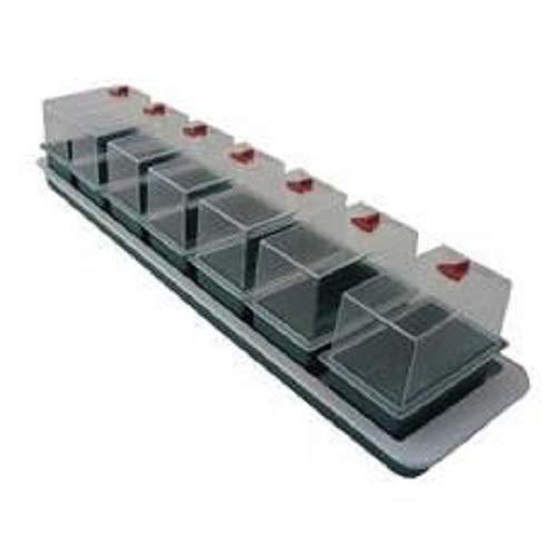Garland Beheiztes Mini-Gewächshaus Super 7, 76 x 18,5 x 15 cm, für Keime und Stecklinge, 7 Stück