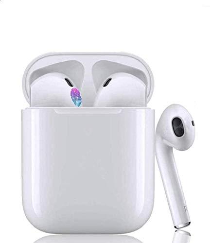 WSDZSW Auricolare Bluetoot,Cuffie Bluetooth Touch,24h Playtime 3D Stereo HD Cuffie Wireless, Binaurale Call Auto Pairing,con Scatola di Ricarica,Leggeri Hi-Fi Cuffie per iOS/Android Cuffie avanzate