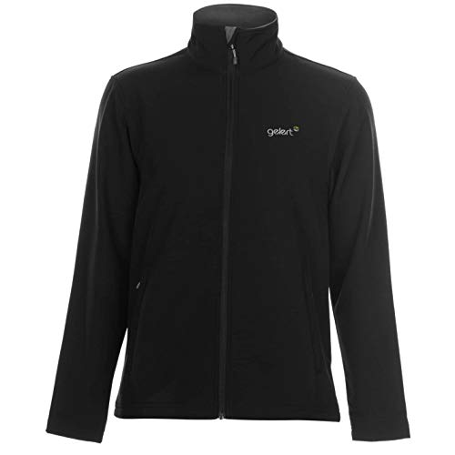 Gelert Herren Softshell Jacke Wanderjacke Langarm Taschen Logo Schwarz XL