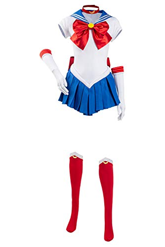 Sailor Moon Cosplay Costume Tsukino Usagi Abito Completo Set Completo Halloween Carnevale bianco L