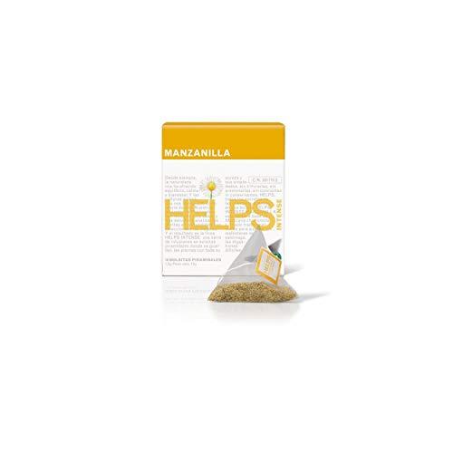 HELPS INFUSIONES - Infusión De Manzanilla En Pirámides. Infusión Digestiva Y Alivio De Gases. Caja De 10 Pirámides.