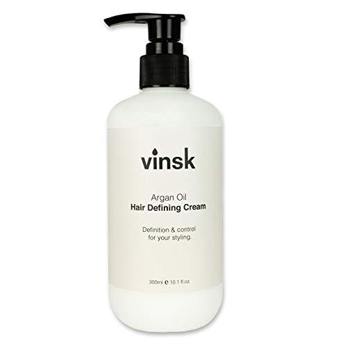 vinsk Argan Öl Defining Cream in Friseur-Qualität ✔ Optimale Kontrolle und intensive Pflege für die Haare ✔ Perfektes Haarstyling für lange Haare, Locken und wellige Haare ✔ vinsk Defining Cream