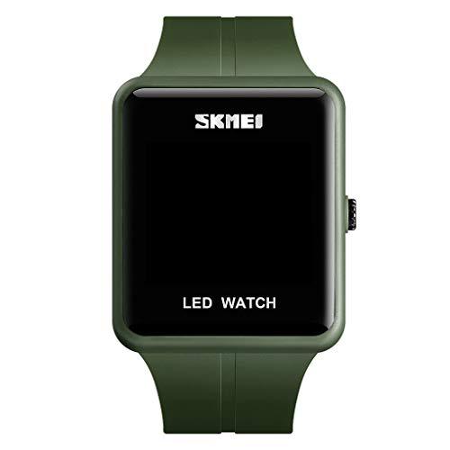 Elektronische Uhr für Männer,Evansamp Einfache elektronische Uhr Sport Multifunktions-Trend Mode im Freien Jugend Uhr(Army Green)