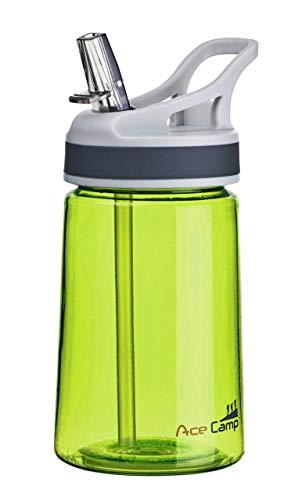 AceCamp TRITAN Trinkflasche | Wasserflasche auslaufsicher BPA-Frei | Sportflasche Trinkhalm I 350 ml I Grün I 15515