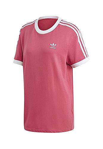 adidas 3 Stripes tee Camiseta, Mujer, Rojo (gratra), 30