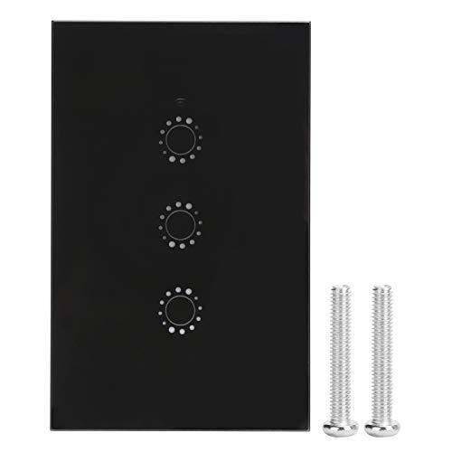 Interruptor táctil de pared, Interruptor de luz inteligente, Interruptor táctil, Equipo de iluminación para casas Electrodomésticos Electrodomésticos(Black three-way (2031002), Transl)