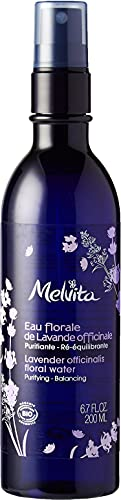 Melvita - Eau Florale de Lavande Bio - Lotion tonique purifiante et rééquilibrante - Sans parfum - 99% Naturelle, Certifiée Bio et Vegan - Vaporisateur Flacon Spray 200ml