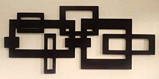 Lasaani Classic ACP Wall Plaque Painted Cutout Stickable Home Decor Wall Art (Glossy Black),WP019