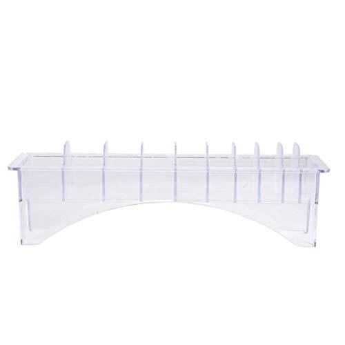 Viccilley Caja de Almacenamiento de Peine con límite de plástico 8/10 Ranuras Estuche Organizador de Peine de Pinza de posicionamiento(10 Ranuras)