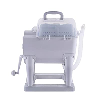 Portable Non-Electric Manual Washing Machine Hand Cranking Washer And Spin Dryer Combo Compact Design for Apartment, Hotel, Dorm, Camping Dorms