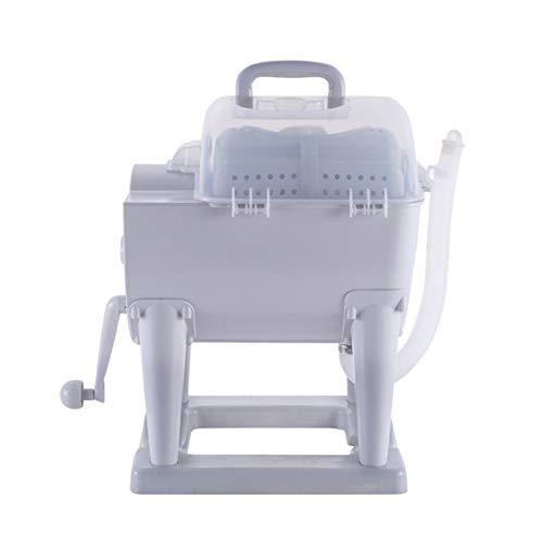 Draagbaar Niet-elektrisch Handmatige wasmachine Met de hand aanzetten Wasmachine en centrifuge drogercombinatie Compact ontwerp voor Appartement, Hotel, Slaapzaal, Camping Slaapzalen