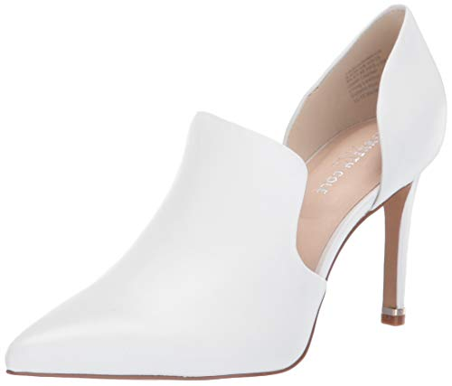 Kenneth Cole New York Riley 85 DRS Loafer Pointed Toe Pump, White, 7.5 M US
