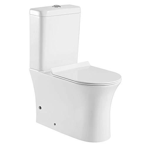 Pack WC cerámico con salida dual y sistema Rimless