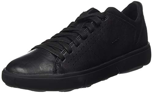 Geox Herren U Nebula Y A Sneaker, Black, 45 EU