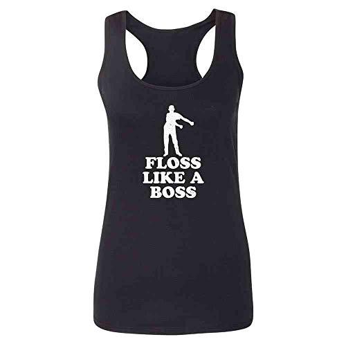 Floss Like A Boss Dance Silhouette Funny Heather Royal 2XL Womens Tank Top
