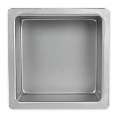 Molde para Pasteles Cuadrado de Aluminio Anodizado PME Profundidad de 4 x 4 x 4-pulgadas