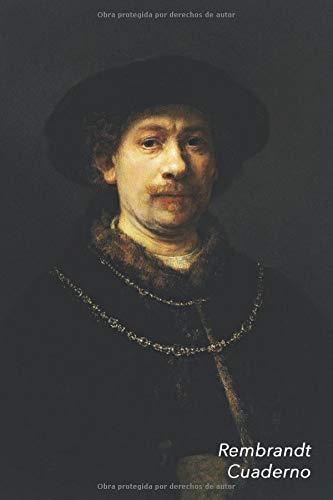 Rembrandt Cuaderno: Autorretrato con gorra y dos cadenas | Diario Elegante |...