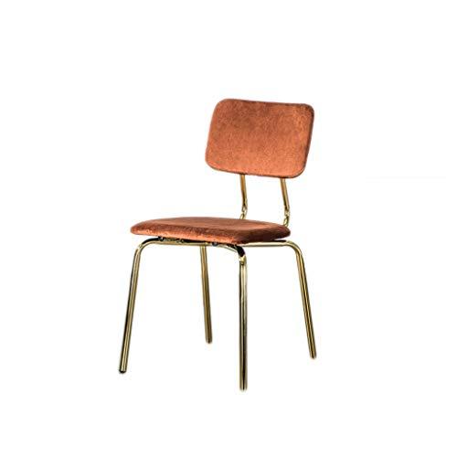 TXXM Silla de escritorio simple para estudiantes y silla de maquillaje, taburete para ordenador para la parte trasera del hogar (color: naranja)