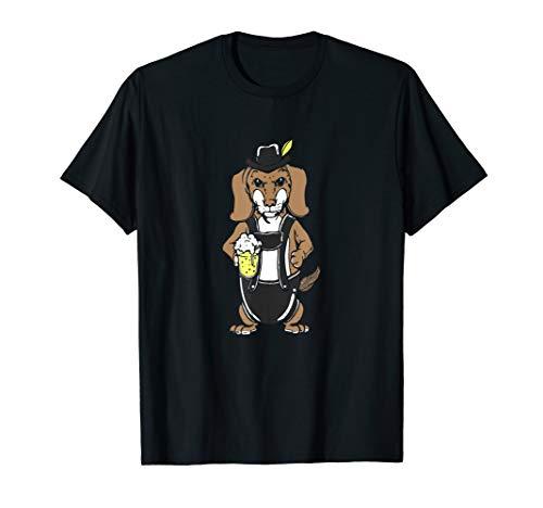Dackel Bier Oktoberfest Dackel In Lederhose Bieliebhaber T-Shirt