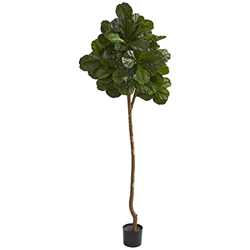 Nearly Natural 7' Fiddle Leaf Fig Artificial Silk Trees, Green