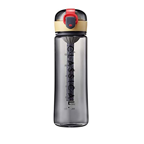 J Tritan Outdoor Sports Cup mit großer Kapazität und Waage Fitness Plastic Water Cup Wasserkocher mit großer Kapazität 500 ml
