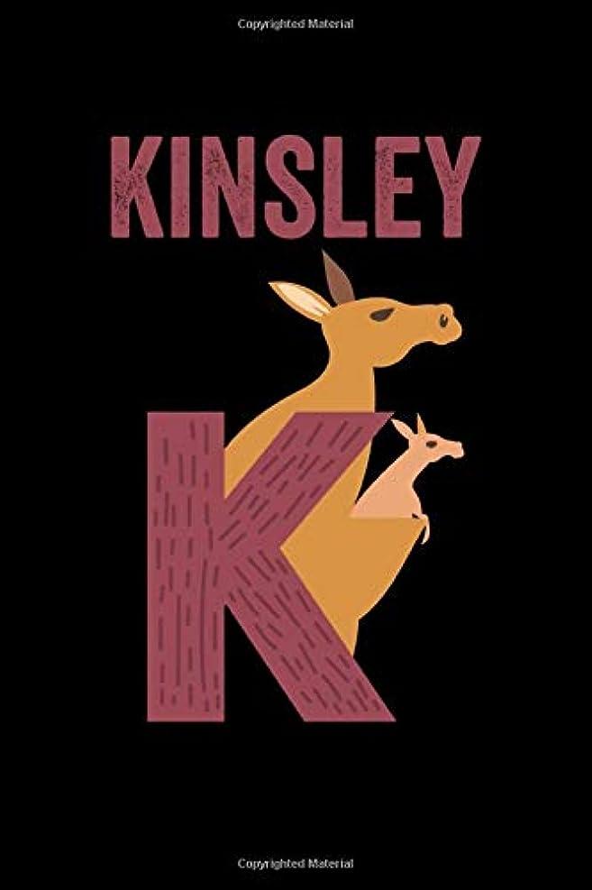 リフレッシュ自動化学校の先生Kinsley: Journal (Diary, Notebook) Personalized Custom Name Alphabet Kangaroo Birthday Gift for Girls