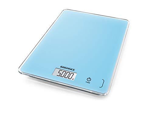 Soehnle Page Compact 300, digitale Küchenwaage, Pale Blau, Gewicht bis zu 5 kg (1-g-genau), Haushaltswaage mit patentierter Sensor-Touch-Funktion, elektronische Waage inkl. Batterien, hellblau