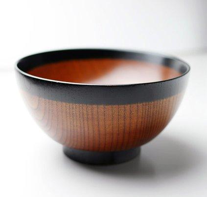 三好漆器『天然木製 丼鉢 なごみ 漆塗り(TW-06)』