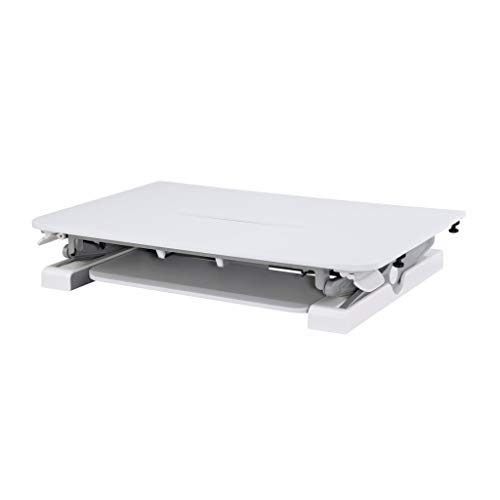 Cotytech Conversor de escritorio de pie sentado - Dinámicamente altura ajustable blanco