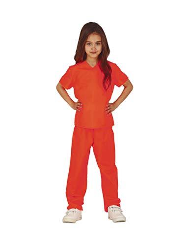 Generique - Disfraz prisionera Naranja nia - 7-9 aos (125-135 cm)