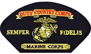 USMC, Duty Country Corps Semper Fidelis Marine Corps - Embroidered Novelty Patches, High Quality Iron On Patch - 3 X 5.25