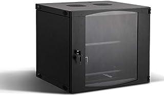 (9U) - Rising 9U Wall Mount Network Server Cabinet Rack Enclosure Plexiglass Door Lock 450mm Deep (9U)