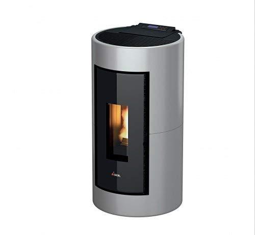 Pelletofen Cadel Shell 8,6 kW Pellet Ofen Pellets Holzpellets Auswahl-Shell Metall-Silver