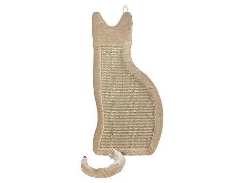 Katzen Kratzbrett Spielbrett Wandmontage ca. B 35 x L 85 x T 3 cm in der Farbe Beige