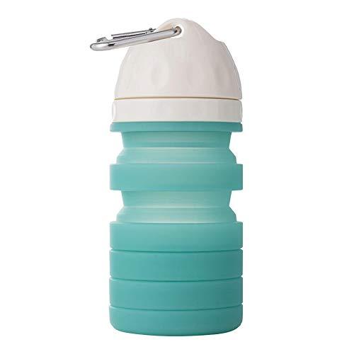 Lihood 610ml Pliegue de Silicona Botella de Agua para Mascotas Campamento de Bebidas portátiles de artículos de Viajes útiles de Viaje