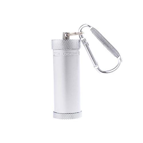 Mini posacenere il lega di zinco/Posacenere tascabile/Posacenere da viaggio, con un piccolo gancio, colore: argento, Mod. 022-02 (DE)