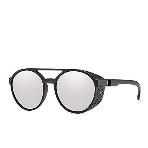 KTZAJO Gafas de sol estilo steampunk para mujer y hombre, estilo retro, redondas, con vuelta, estilo punk y vintage, color (lentes: C4)