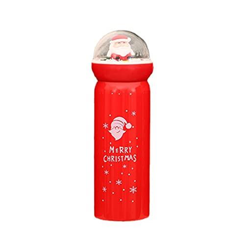 Somerway 380 ml Vacador Aislado de la Navidad Termo Toma Capacidad Grande Capacidad Agua Termal ROJA DE Agua para EL Regalo A