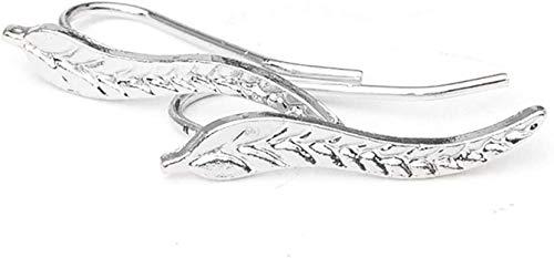 Schöne Blätter Damen Ohrstecker in Silber - Ohrringe als Blatt Form in Edelstahl