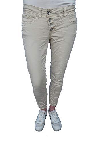 Buena Vista Damen Jeans Malibu 7/8 Stretch Twill Sand Dollar beige - S