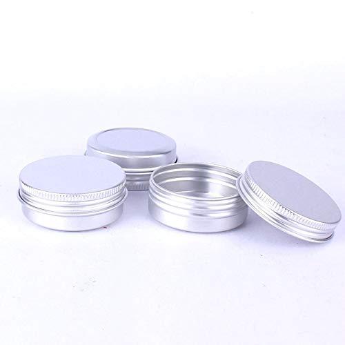 NoBrand 5 PCS Discussion Aluminium Emballage Boîte Rechargeables Cosmétique Petit Coffret De Rangement, 100 G,ZhongsFa (Color : Silver)